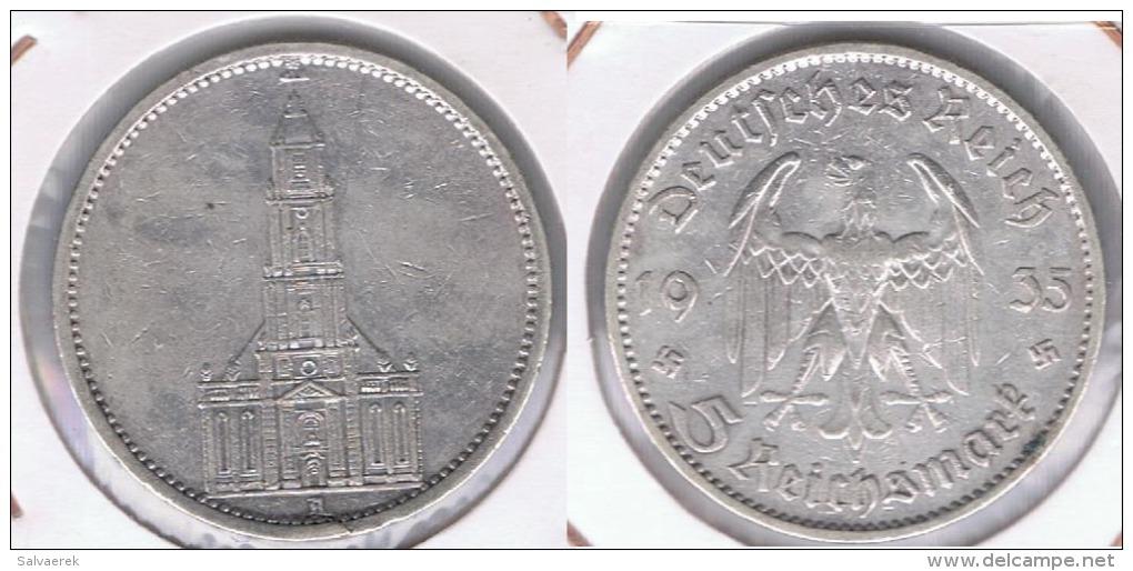 ALEMANIA DEUTSCHES REICH 5  MARK 1935 B PLATA SILVER. Z - 5 Reichsmark
