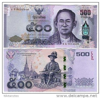 THAILAND 500 BAHT 2014 UNC P NEW - Thailand