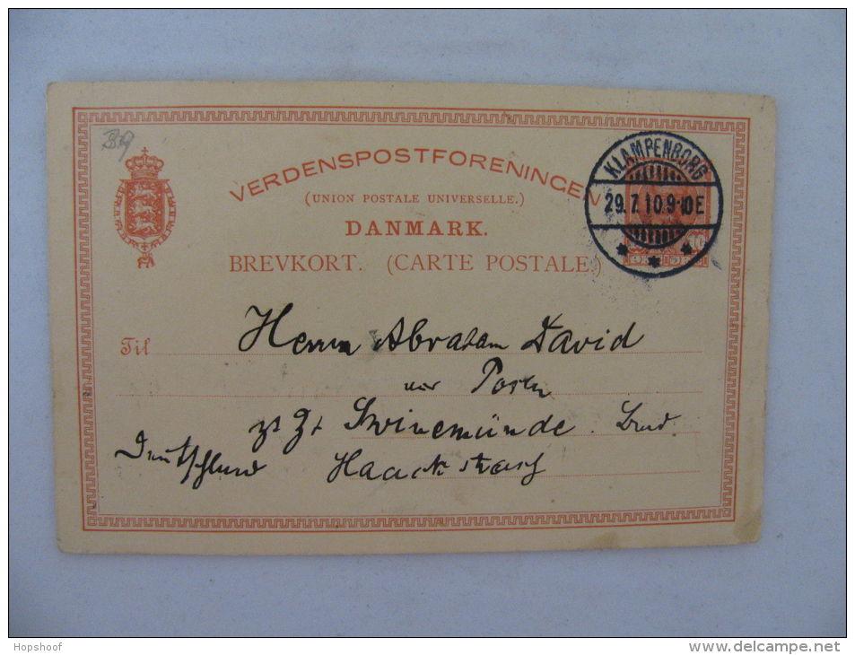 Brevkort Carte Postale Denmark Dänemark Danmark Klampenborg 1910 - Timbres