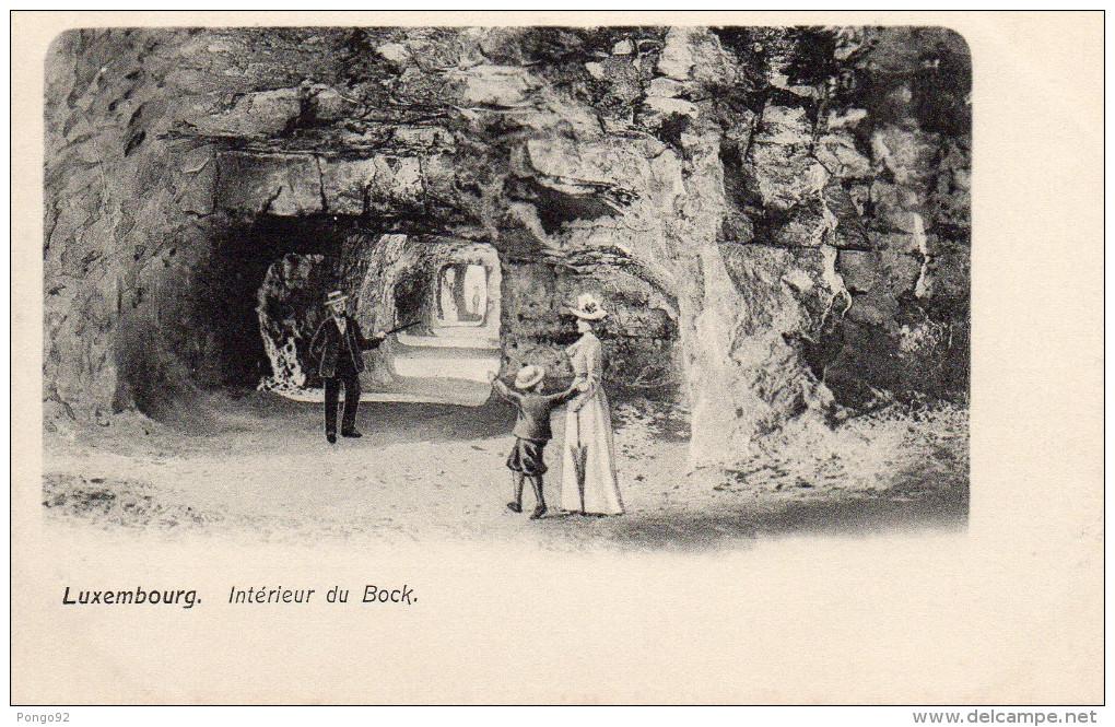 Cpa LUXEMBOURG, Intérieur Du Bock, Personnages Rajoutés Sur L'image De La Grotte  (47.37) - Luxembourg - Ville