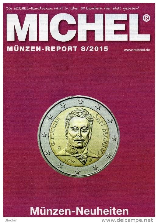 Briefmarken Rundschau MICHEL 8/2015 Neu 6€ New Stamps+coins World Catalogue And Magacine Of Germany ISBN 9 783954 025503 - Autres Langues
