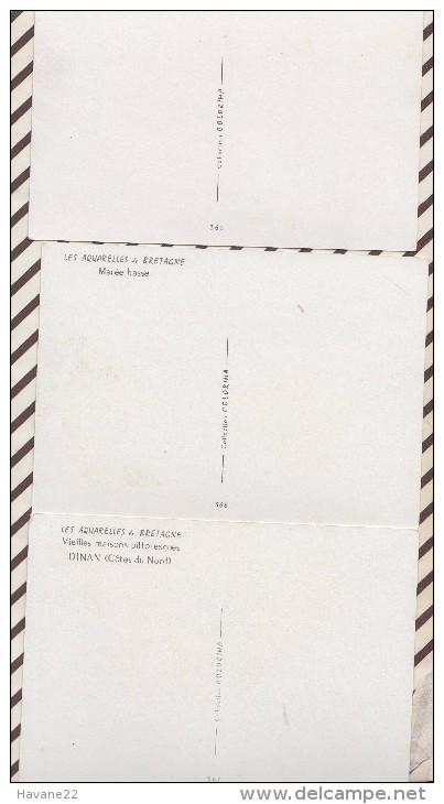 5AH2249 Lot De 3 Cartes AQUARELLES DE BRETAGNE PAR SUAIN 2  SCANS - Bretagne