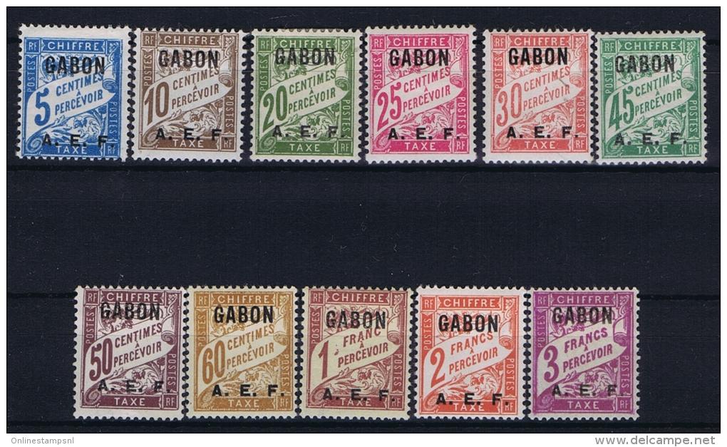 Gabon Yv Nr  Taxe 1 -11 MH/* Avec  Charnière - Unused Stamps