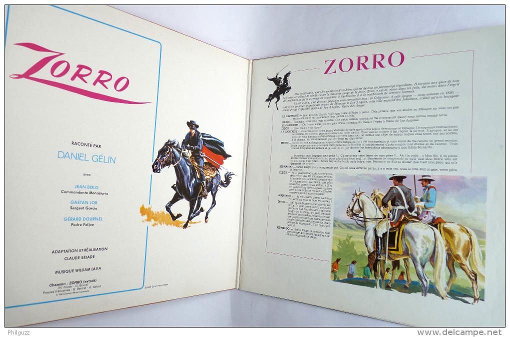 Disque Vinyle 33T Les Aventures De ZORRO WALT DISNEY Daniel Gélin - ADES ST 3950 1985 - Disques & CD