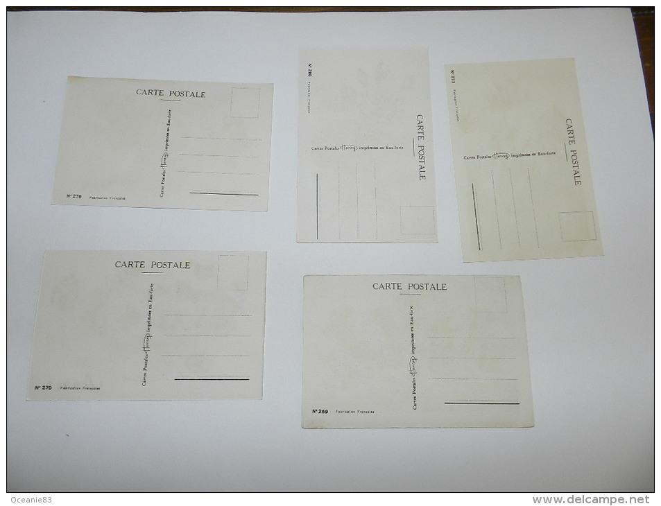 5 CARTE POSTALE HENRY EAU FORTE   - ROSES / PENSEES / GENTIANES / CYCLAMENS - Fiori
