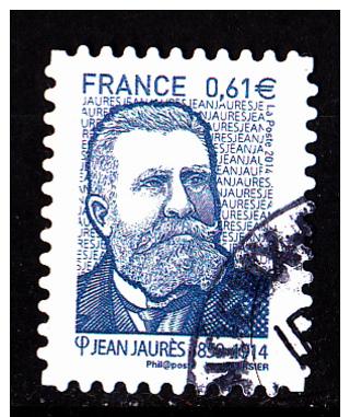 """JEAN JAURES Autoadhésif Issu Du Carnet """"LES BEAUX TIMBRES S´EXPOSENT AU SALON"""" Cachet Rond - Used Stamps"""