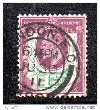 Y306 - GRAN BRETAGNA 1902 , Edoardo VII Giubileo N. 108 Usato - Usati