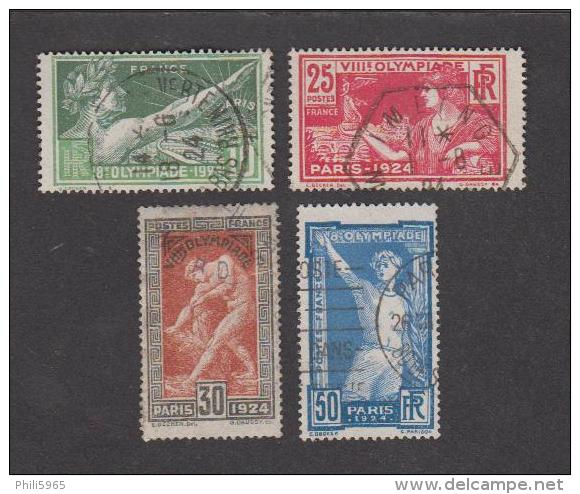 France Oblitérés - N°183 à 186 - JO Jeux Olympiques De Paris 1924 - TB - France