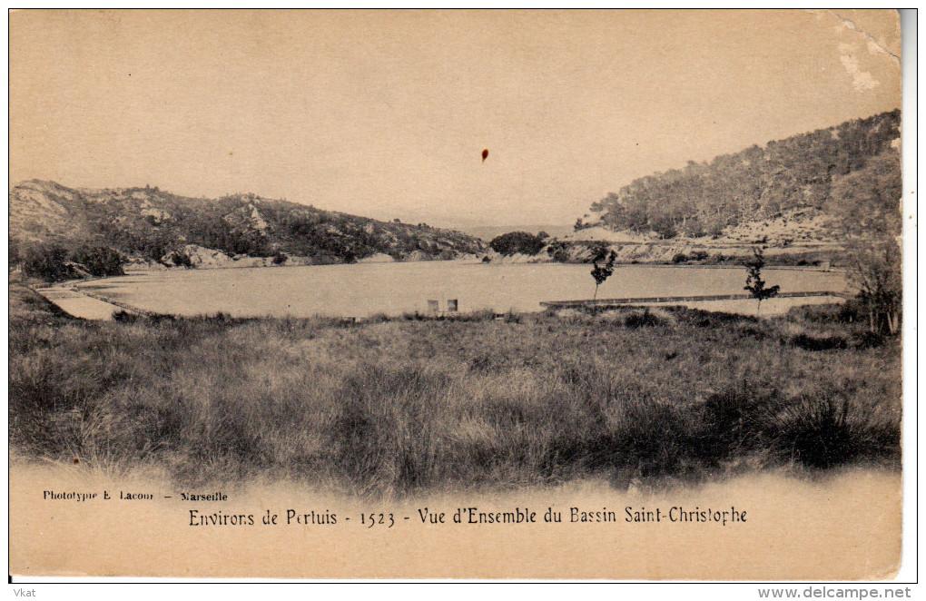 CPA Carte Postale Ancienne Pertuis Bassin Saint Christophe 1904 - Pertuis