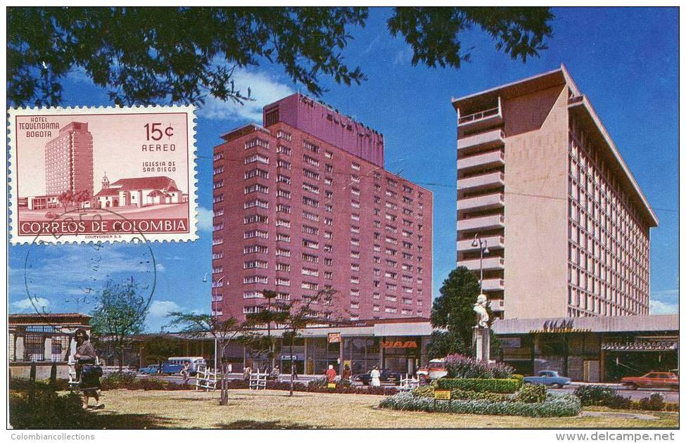 Lote PEP897, Colombia, Postal, Postcard, Tarjeta Maxima, Maximun Card, Bogota, Hotel Tequendama, 8117 - Colombia