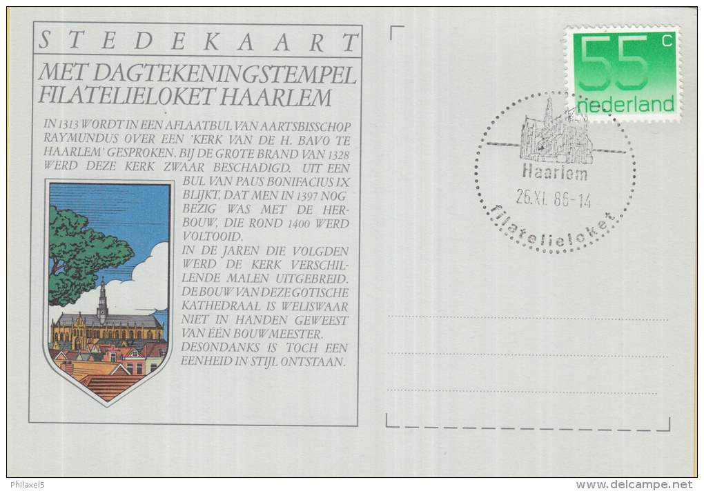 Nederland - Stedekaart - Dagtekeningstempel Filatelieloket Haarlem - Noord-Holland - Kaartnummer 17 - Poststempels/ Marcofilie