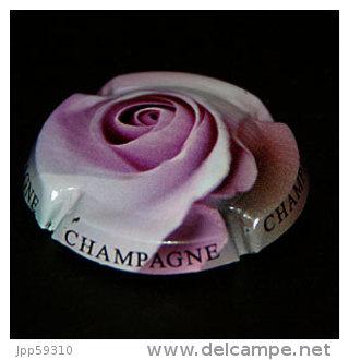 """Plaque De Muselet Champagne, Thème """"fleurs"""" (représente Une Rose)* - Non Classés"""