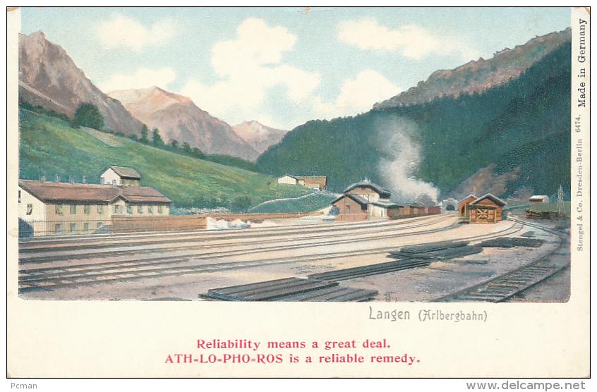 Langen (Albergbahn) - (Medicine Advertisement), ALT-LO-PHO-ROS -- Simple, Circa 1900, Stengel # 6474 - Autriche