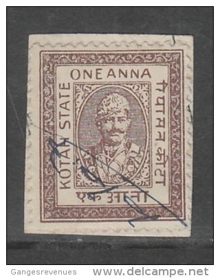 KOTA State India  1A  Revenue Type 42 K&M 420 # 86330  Inde Indien Fiscaux Fiscal Revenue - Ohne Zuordnung