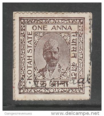 KOTA State India  1A  Revenue Type 40 K&M 400 # 86313  Inde Indien Fiscaux Fiscal Revenue - Indien
