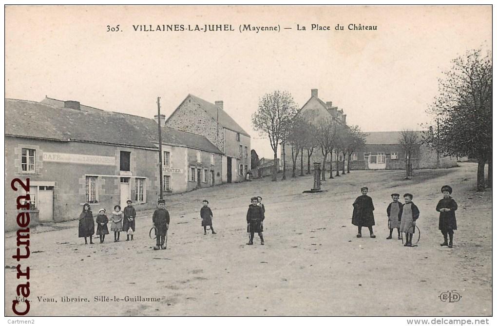 VILLAINES-LA-JUHEL PLACE DU CHATEAU ANIMEE 53 - Villaines La Juhel