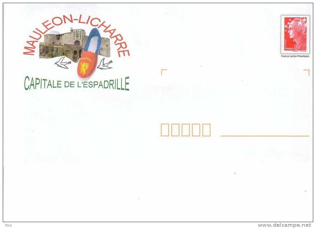 """PAP MAULEON - LICHARRE (PYRENEES ATLANTIQUES) : Capitale De L'ESPADRILLE Timbre """"BEAUJARD"""" - Entiers Postaux"""