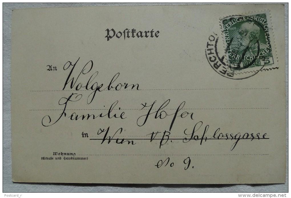 Austria Perchtoldsdorf Niederösterreich Panorama   Stamp 1909   A  48 - Perchtoldsdorf