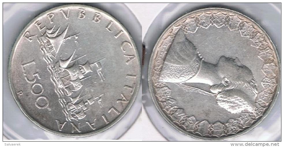 ITALIA 500 LIRA R 1966 PLATA SILVER Y2 - 1946-… : República