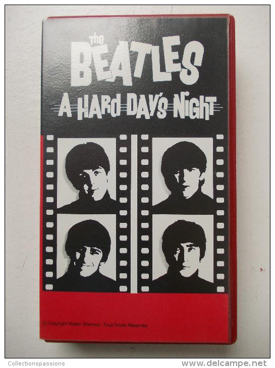 Cassette Vidéo VHS - THE BEATLES - A Hard Day's Night - - Concert Et Musique