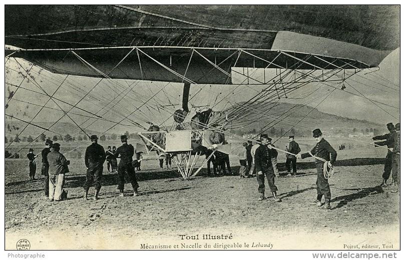 France Toul Aviation Dirigeable Lebaudy Ancienne Carte Postale CPA 1905 - ....-1914: Precursors