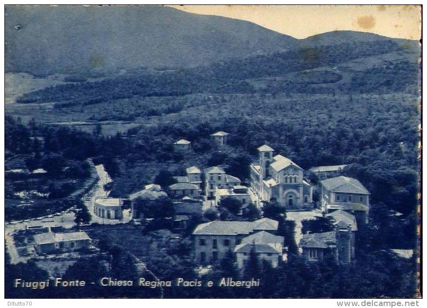Fiuggi Fonte - Chiesa Regina Pacis E Albergi - Formato Grande Viaggiato - Frosinone