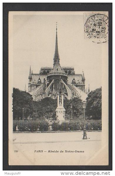 DF / 75 PARIS / NOTRE DAME DE PARIS / L'ABSIDE / CIRCULÉE EN 1903 - Notre Dame De Paris