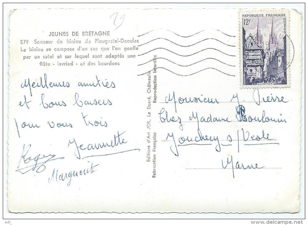 CPSM SONNEUR DE BINIOU DE PLOUGASTEL DAOULAS, FINISTERE 29 - Plougastel-Daoulas