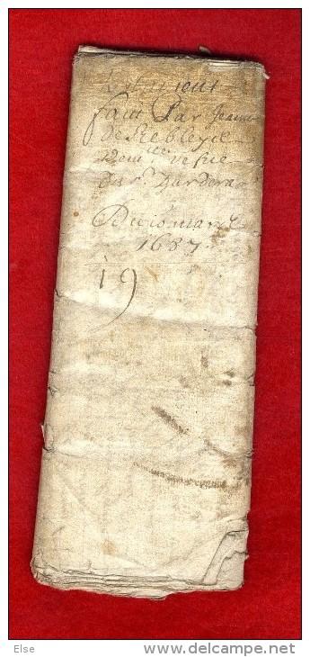 PROCES VERBAL DE DONNATION A DECHIFFRE  TESTAMENT 1687  REBLEYER   -  Manuscrit Document 16 Pages - Manuscripten