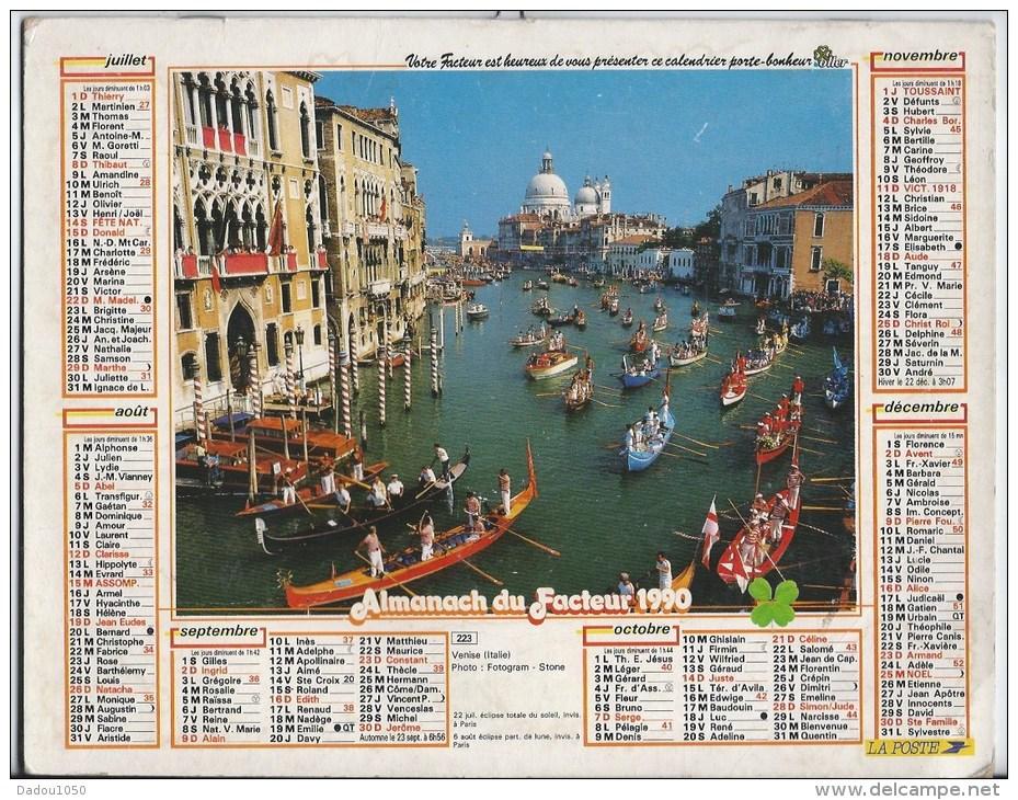 Calendrier Des Postes 1991  69 Rhone - Grand Format : 1991-00