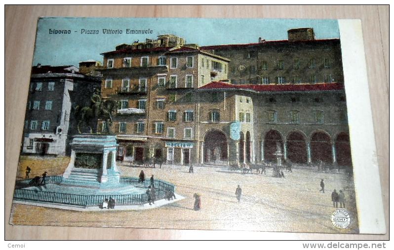 CPA Colorisée - LIVORNO - Piazza Vittorio Emanuele - Livorno