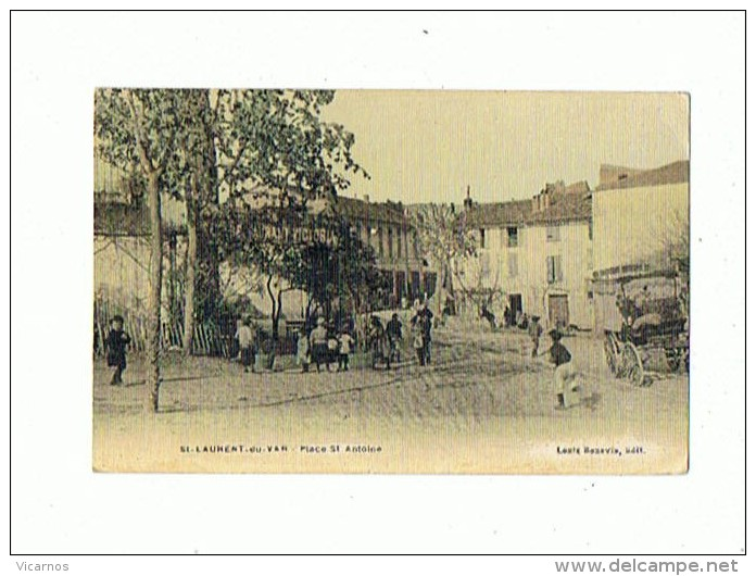 CPA 06 ST LAURENT DU VAR Place St Antoine - Saint-Laurent-du-Var