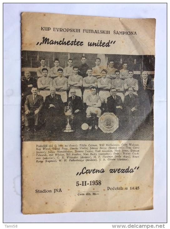 Red Star Belgrade V Manchester United Programme 5th February 1958.  CRVENA ZVEZDA   Vs  MAN. UNITED  FEB 5th*BUSBY BABES - Programs