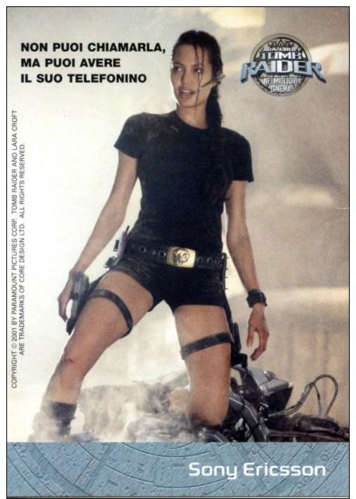 Sexy Busty Long Legs ANGELINA JOLIE Lara Croft Tomb Raider Movie Postcard Italy - 23514 - Manifesti Su Carta