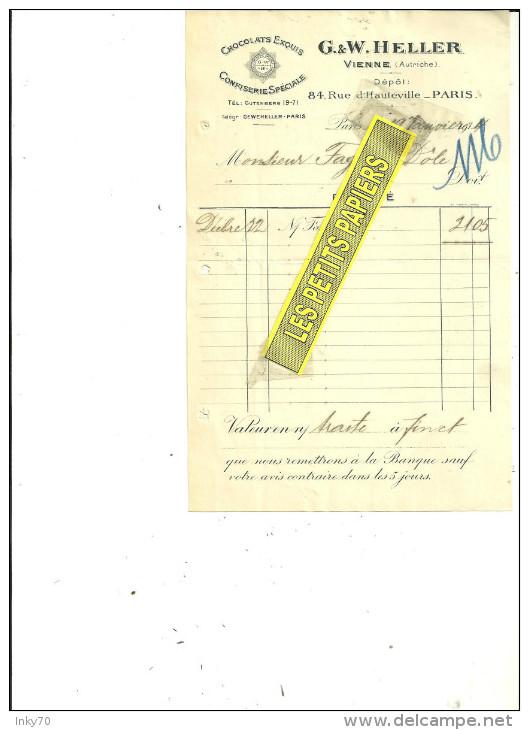 Autriche - VIENNE - HELLER - Chocolat - Confiserie - 1914 ( 204 ) - Autriche