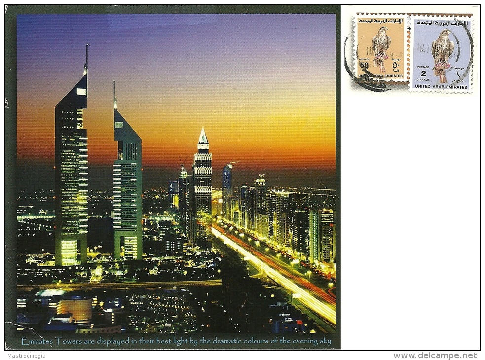 UNITED ARAB EMIRATES  EMIRATI ARABI UNITI  DUBAI  Emirates Towers  Skyscraper   Nice Stamps Hawk Theme - Emirati Arabi Uniti