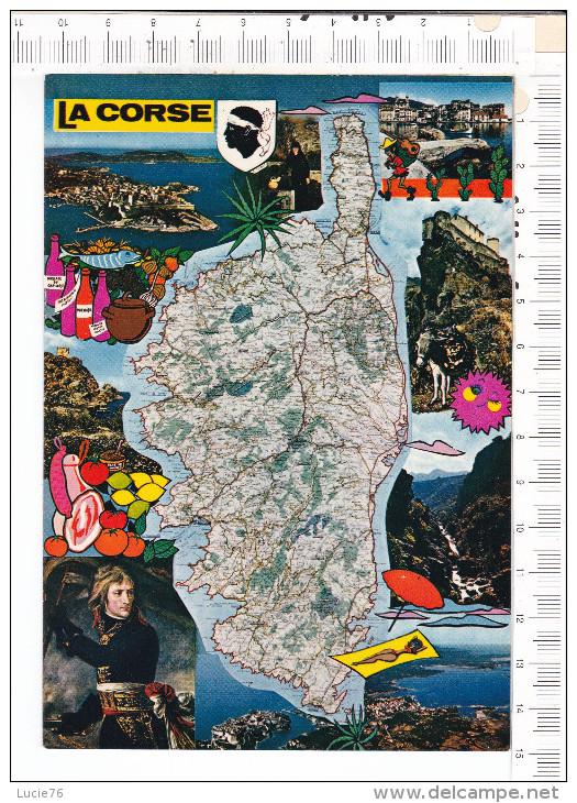 ILE  De   BEAUTE   -   LA  CORSE   -    Carte  De L  Ile   -   Illustrations   -  Vues - France
