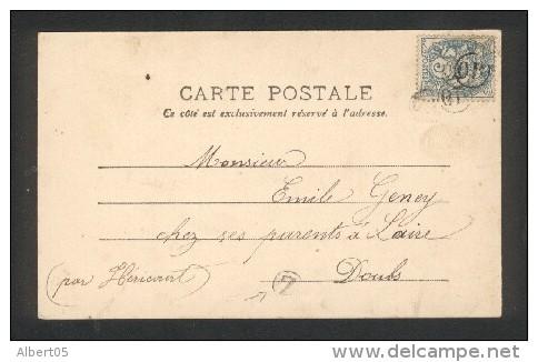 """Carte Affranchie 5c Type Blanc Oblitéré 3 Fois Par Le Cachet OR (Origine Rurale) . Boite Rurale """"Z"""" - Marcophilie (Lettres)"""