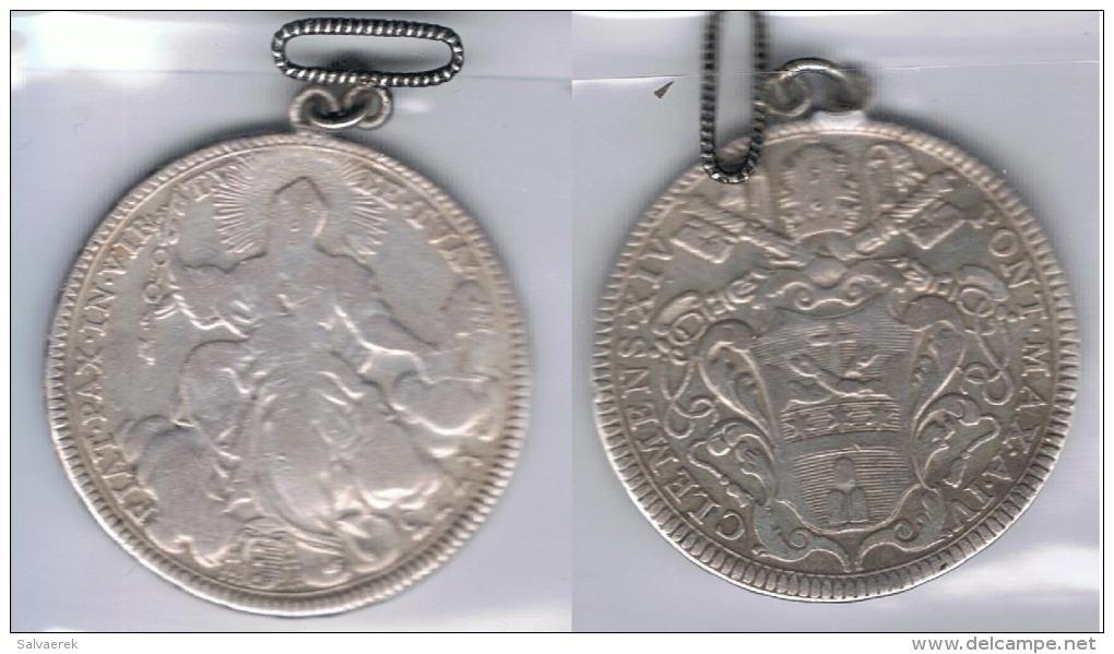 VATICANO MEDIO  ESCUDO CLEMENTE XIV 1773 PLATA SILVER Y - Vaticano (Ciudad Del)