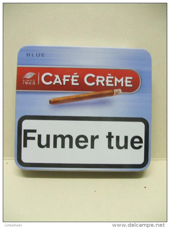 BOITE Métal Vide CAFE CREME Blue (20 Cigares) - Étuis à Cigares