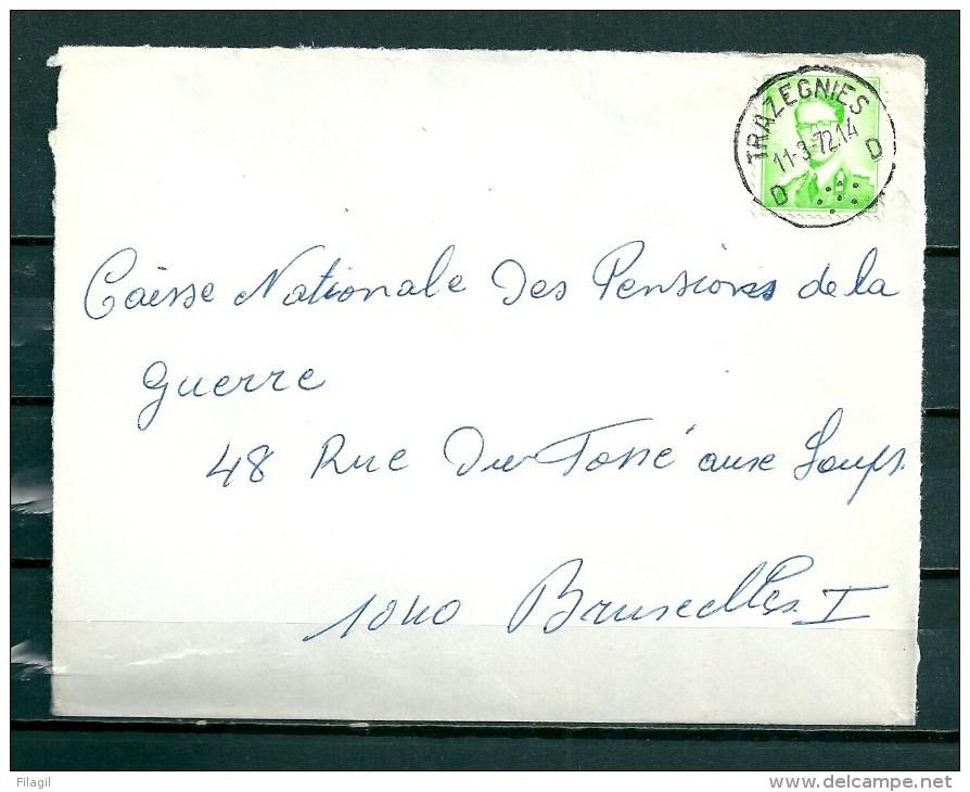 Brief Van Trazegnies Naar Bruxelles - 1953-1972 Brillen