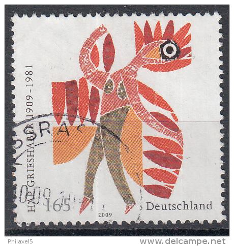 Duitsland - 100. Geburtstag Von HAP Grieshaber - Schilder/Graficus/Houtsnijder - Gebruikt/gebraucht/used - Michel 2722 - Gebraucht