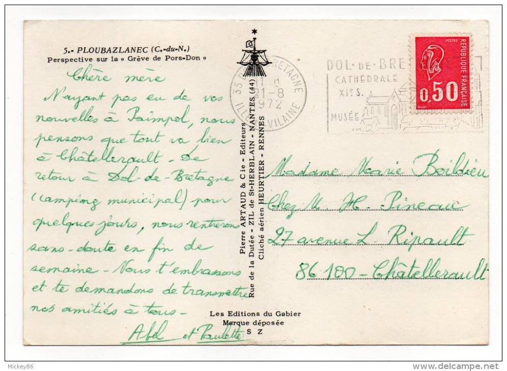 PLOUBAZLANEC--1972--Vue Aérienne-Perspective Sur La Grève De Pors-Don,cpsm 15 X 10 N°5 éd Artaud - France