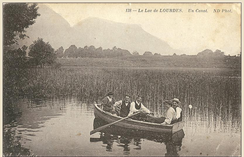 CP France, Lourdes, 1914, Le Lac De Lourdes - Un Canot,  Zustand Siehe Bild - Etat, Voir Images - Lourdes