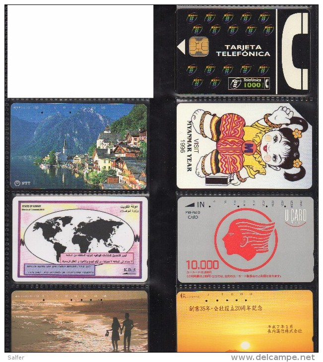 7 SCHEDE USATE - Télécartes