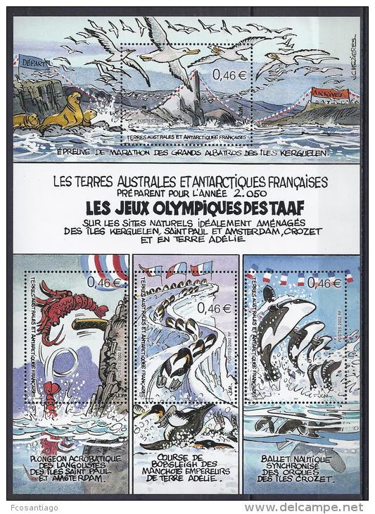 ANTARTIDA FRANCESA 2002 - Yvert #H7 - MNH ** - Blocs-feuillets