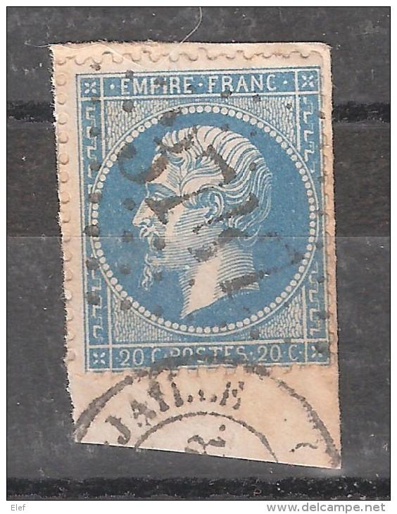Empire N° 22 Obl GC   3747 De ST SAINT MARS LA JAILLE, Loire Atlantique , Sur Fragment, TB - 1862 Napoleon III