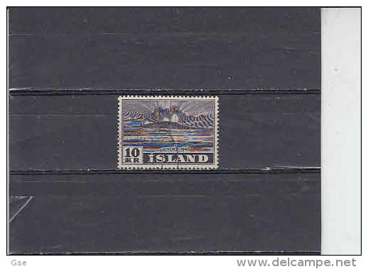 ISLANDA  1948 - Unificato  214° - Vulcanologia - Usati