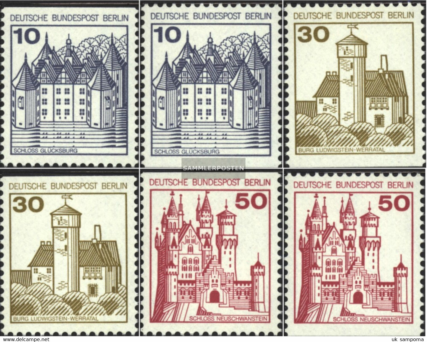 Berlin (West) 532C,D,534C,D,536C,D (complete Issue) Unmounted Mint / Never Hinged 1977 Fortresses And Castles - Unused Stamps