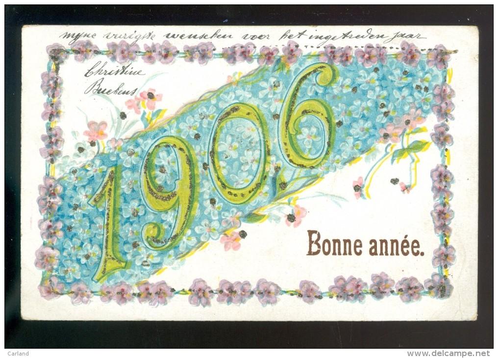 Année  Jaartal  1906  - Carte Gaufrée  Gaufrage  Reliëf - Fantaisies